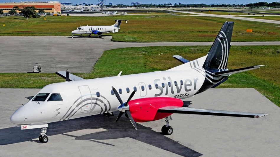 Turboprop planes make up the entire fleet at Silver Airways. Airlines are increasingly using propeller planes to cut costs. (Courtesy of Silver Airways/SBPR)