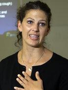 At a Los Angeles media briefing in 2010, Mariah Bianchi d
