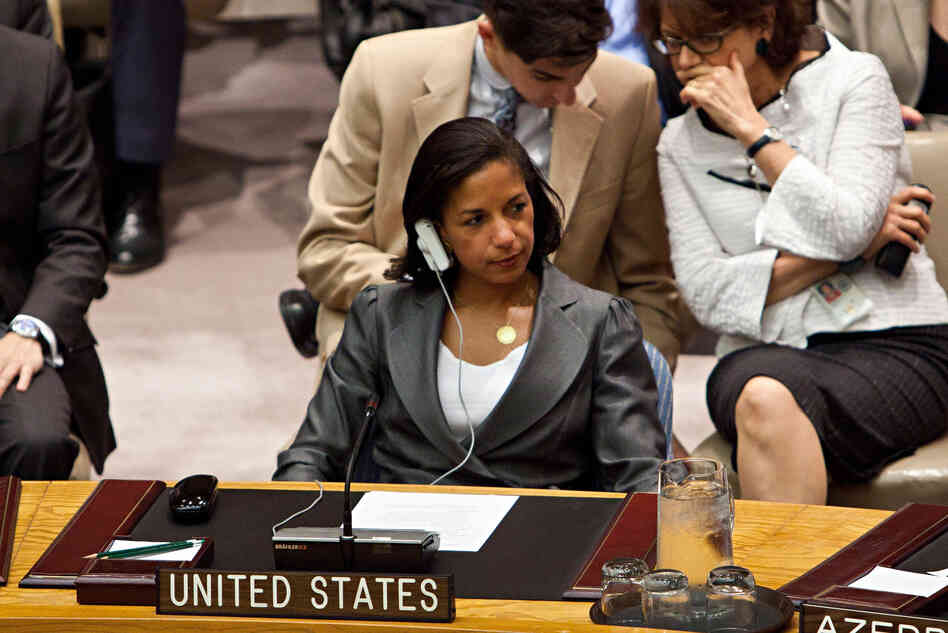 Susan E. Rice, U.S. ambassador to the United Nations, attends a U.N. Security Council meeting in August.