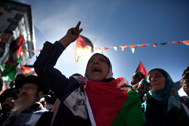 Palestinians in Ramallah celebrated in advance of the U.N. vote.