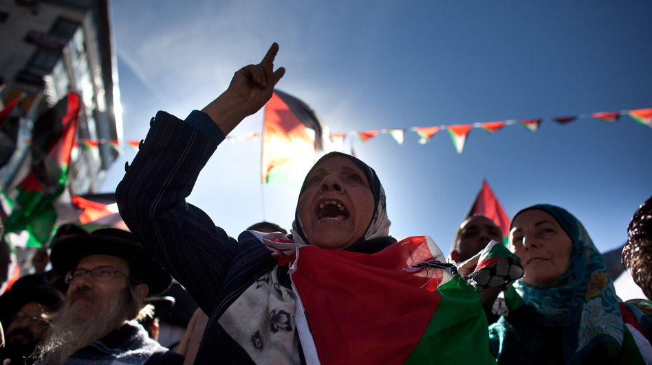 Palestinians in Ramallah celebrated in advance of the U.N. vote. (Getty Images)