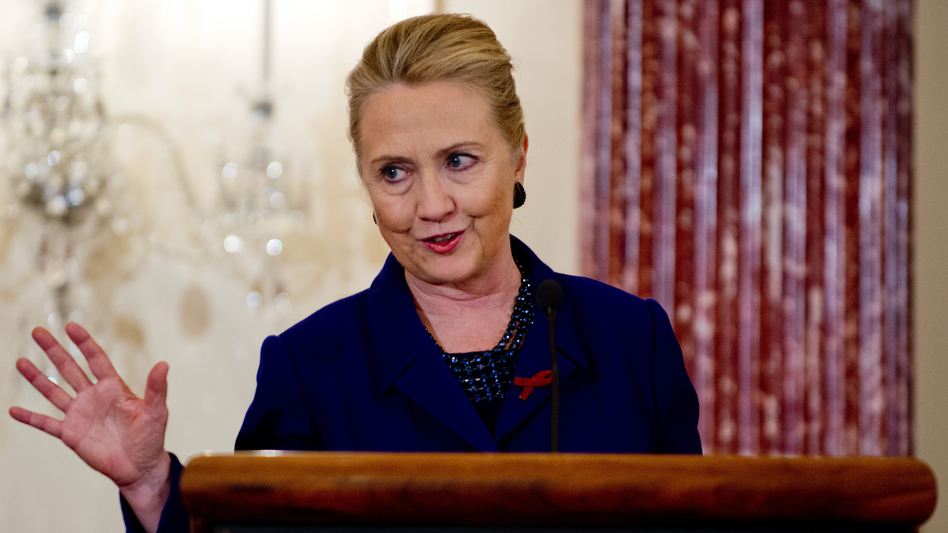On Thursday, Secretary of State Hillary Rodham Clinton announces the U.S.'s plans to curb new HIV infections around the world.