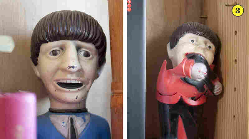 Vintage Beatles Dolls — Bob has had these vinyl Fab Four dolls since he was a teenager. Paul, unfortunately, is a little worse for wear after getting knocked down during a particularly rowdy concert.