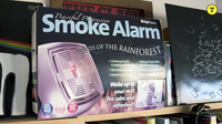 "Sounds of the Rainforest Smoke Alarm -- This gag gift box, once sold by The Onion, came packed with books for Stephen Thompson and sports the NPR shoutout: ""For an additional $9.99 a month, you can have an operator, trained by National Public Radio, call to make sure everything is okay."""