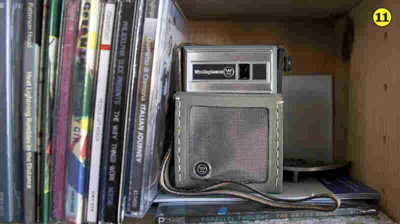 Handheld Transistor Radio — This radio is the same model as the first radio Bob owned as a kid. He ordered the original in 1964 with $5 and a Listerine coupon. (Have we stumbled upon an early version of Fresh Air?)