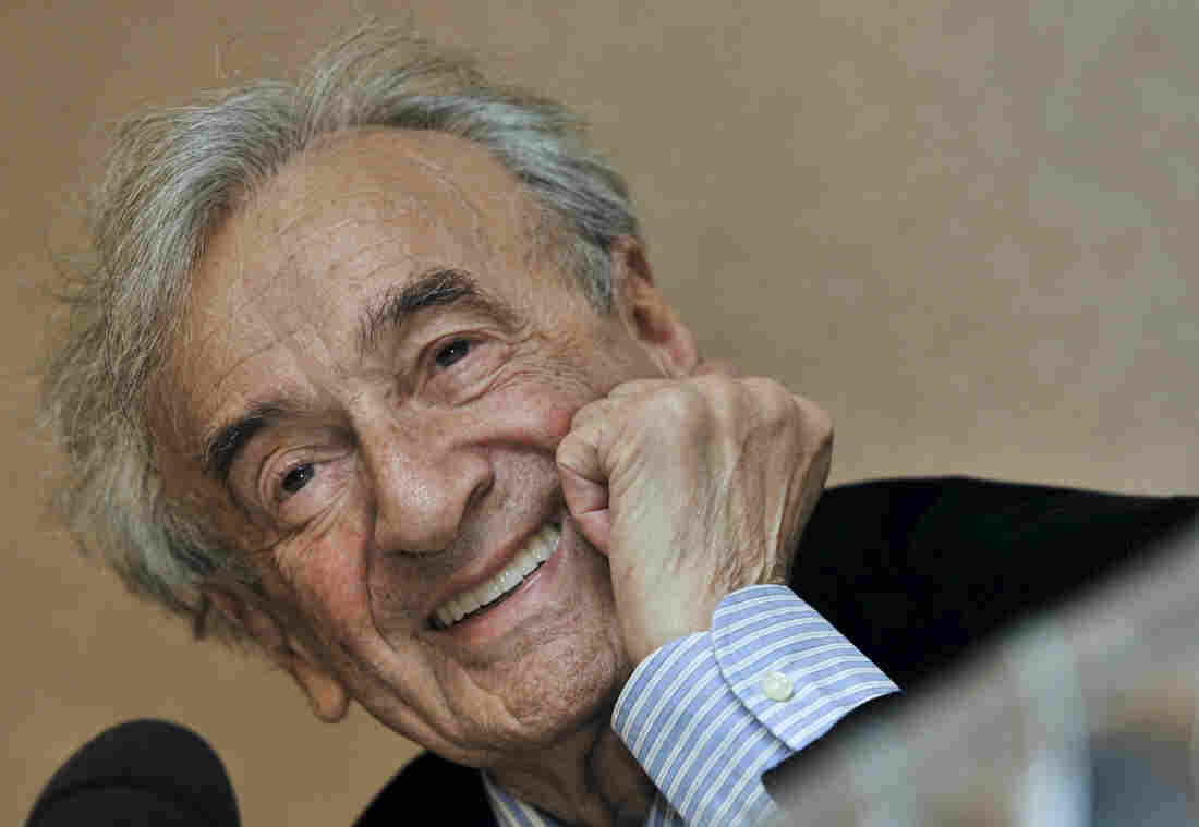 Elie Wiesel, Holocaust survivor and Nobel Peace Prize-winning author, smiles during a press conference in Budapest, Hungary, in 2009.
