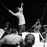 Gustavo Dudamel conducts the orchestra he played in as a kid.