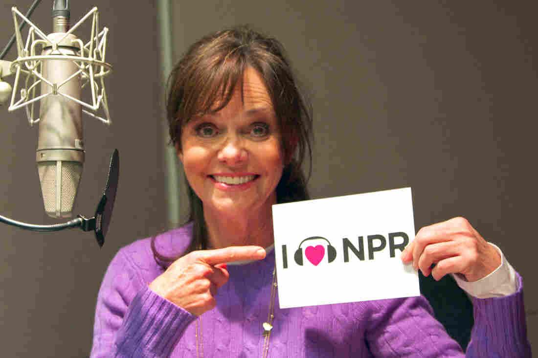 Actress Sally Field at NPR's New York bureau.