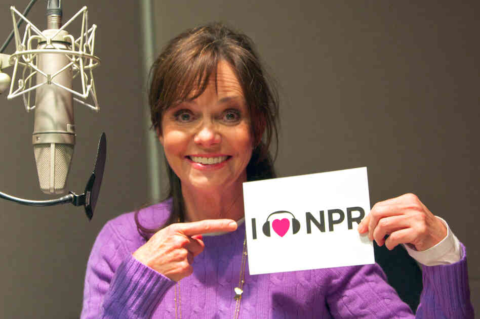 Actress Sally Field at NPR's New York bureau.