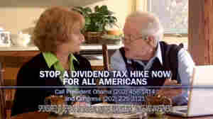 A screen grab from an ad by the Defend My Dividend campaign, which is funded by utilities and other companies. They don't support a proposed increase in taxes from investment income.