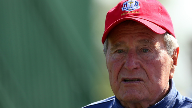 Former President George H.W. Bush in September at the Ryder Cup golf match in Medinah, Ill. (Getty Images)