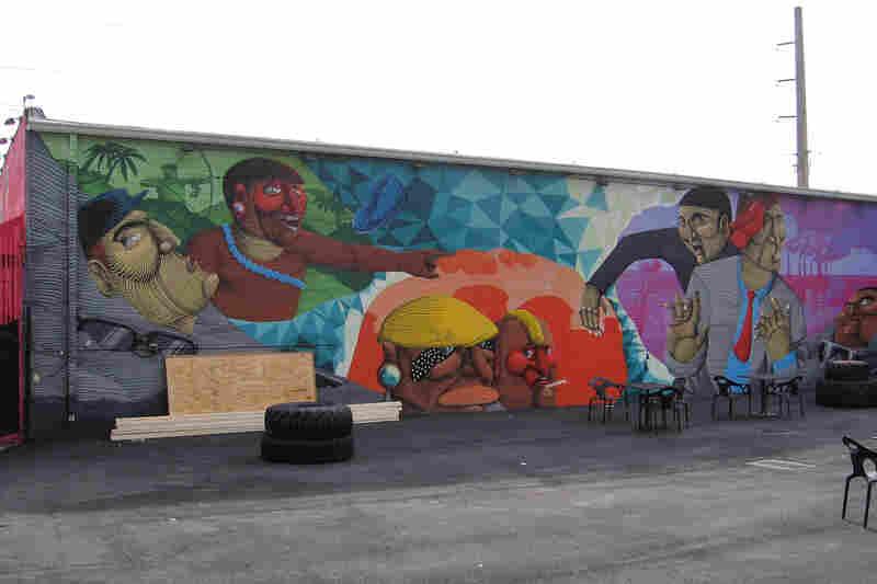 Brazilian street artist Nunca's work focuses on the conflict between indigenous cultures and modern ways.