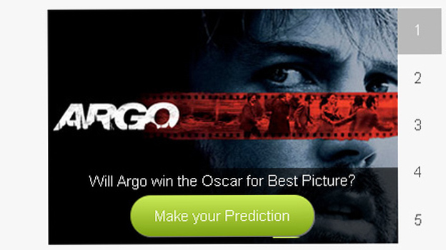 Ireland-based Intrade lets users bet money on all manner of predictions — like if a particular film will win an Oscar. The site is ceasing operations in the U.S. (NPR/Intrade screen grab)