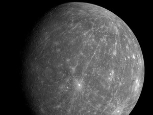Mercury (seen here in this Oct. 8, 2008, image from the Messenger spacecraft)