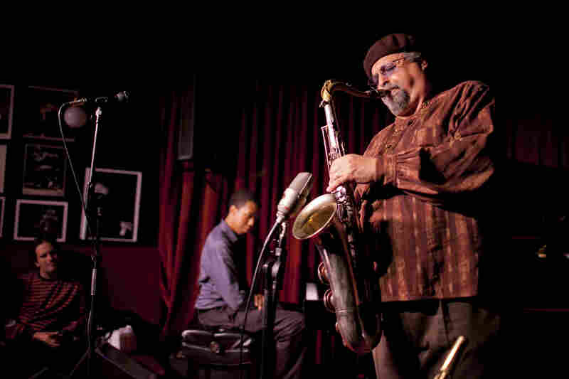 Joe Lovano, backed by Lawrence Fields.
