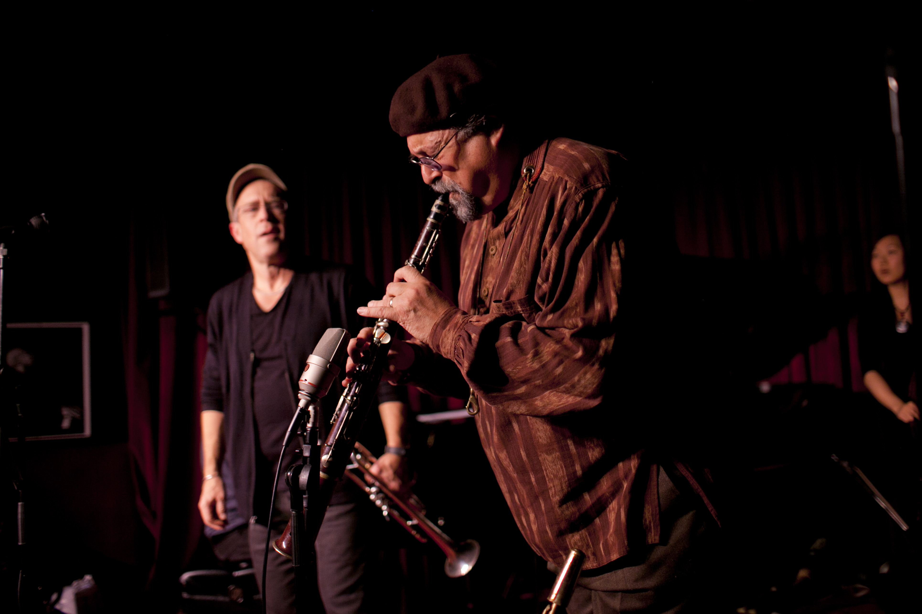 Joe Lovano brought his tarogato, a Hungarian clarinet-like instrument.