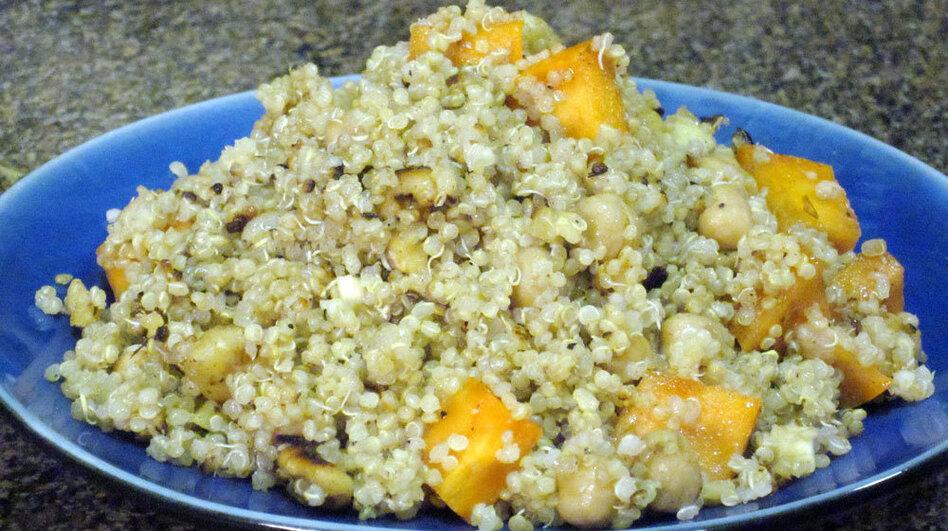 Quinoa salad. (NPR)
