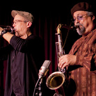 The Sound Prints Quintet is (L-R): Lawrence Fields, Dave Douglas, Joe Lovano, Linda Oh, Joey Baron.