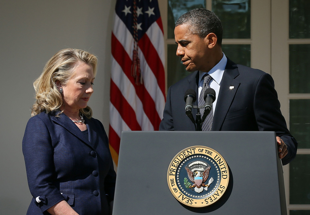 the views of hilary clinton and barrack obama essay Barack obama 44th president of  obama penned an essay in glamour, in which he described how his daughters and  religious views obama is a protestant christian.