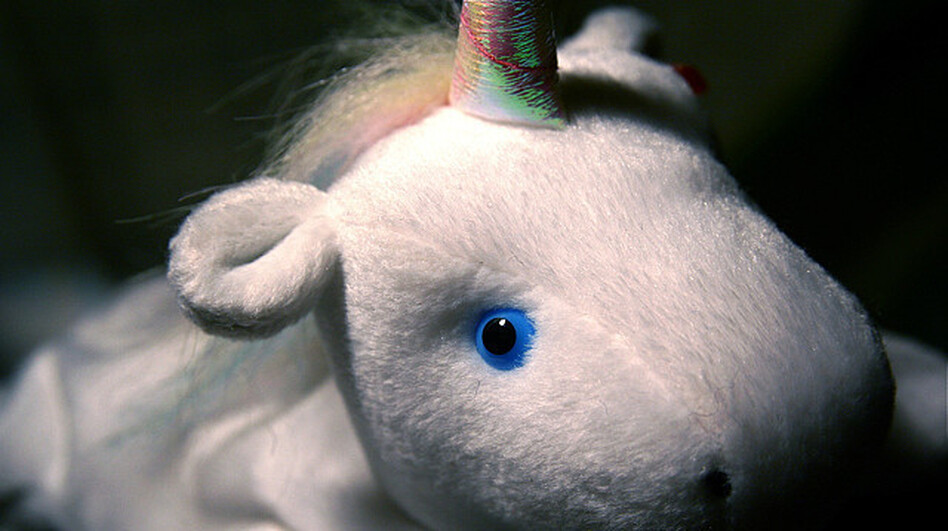 There's no word whether the unicorn that lived in the lair was this cute. (via Flickr)