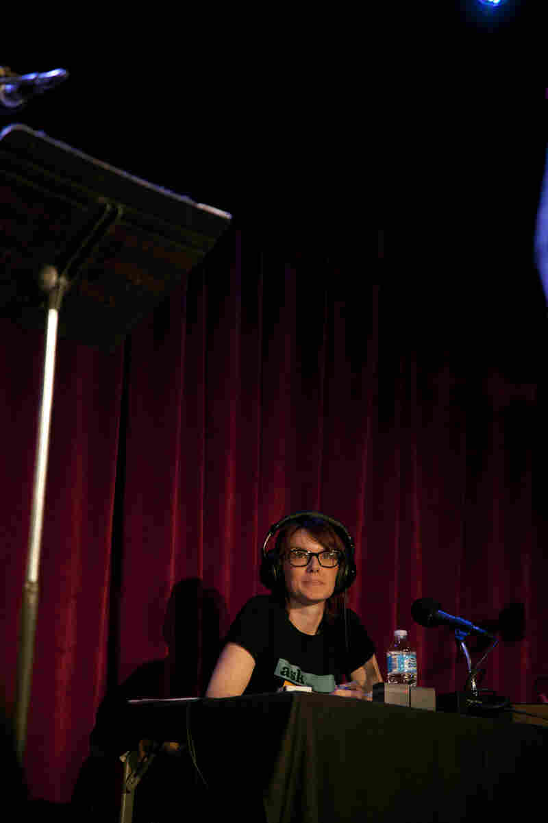 'Ask Me Another' Senior Supervising Producer Jesse Baker during the Nov. 26 show at the Bell House in Brooklyn.