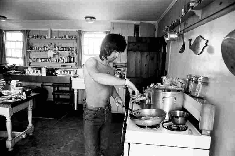 """""""Once ... I thought, God, that smells really good, like eggs or something. I went into the kitchen — this was still midday — and there was Keith, standing over a frying pan at the stove, without a shirt on, cooking up some eggs. I had to do a triple take: he never got up much before six or 7 p.m. Thank God I had my camera because this was a one-in-a-million shot."""""""