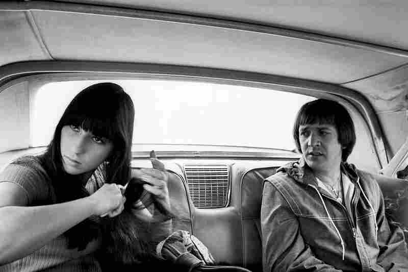 "Sonny and Cher, 1966. ""I truly lucked out with the kind of access that almost no longer exists. 'I Got You Babe' had been a number one hit in the summer of 1965, but the sassy, animated couple — Sonny was 34, Cher was 19 — couldn't have been more cooperative, friendly, and open."""