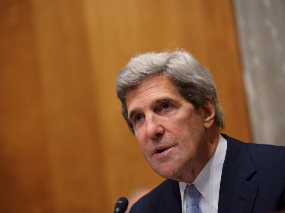 Committe Chairman John Kerry , D-MA, speaks during the Senate Foreign Relations Committee hearing on the nomination of Robert Beecroft to be ambassador to Iraq Sept. 19 in the Dirksen Senate Office Building on Capitol Hill in Washington, DC.