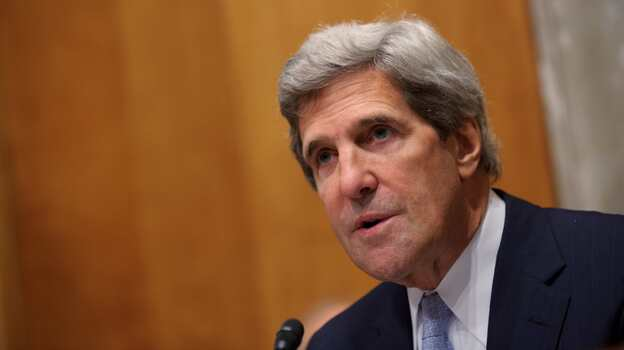 Committe Chairman John Kerry , D-MA, speaks during the Senate Foreign Relations Committee hearing on the nomination of Robert Beecroft to be ambassador to Iraq Sept. 19 in the Dirksen Senate Office Building on Capitol Hill in Washington, DC. (AFP/Getty Images)