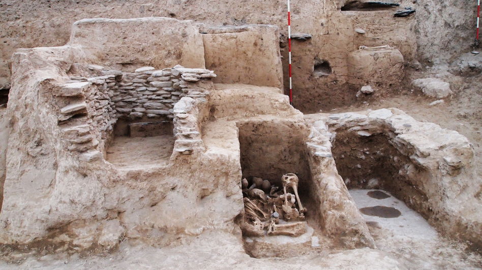A cemetery uncovered in Pakistan's Swat Valley is thought to be from around 2,500 to 3,000 years ago. (Courtesy of ACT Project)