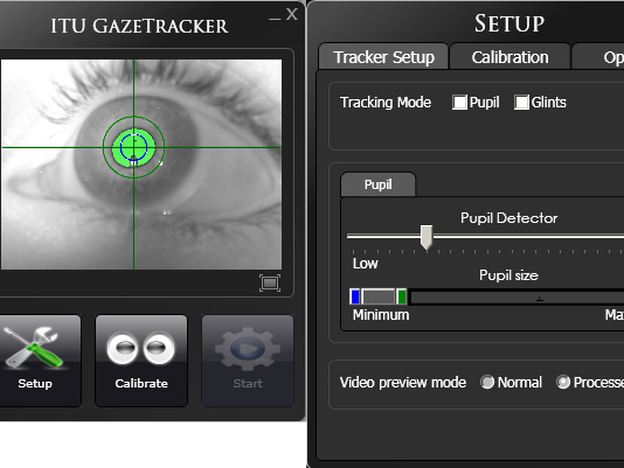 The open-source software produced by the Gaze Group uses infrared light to track the pupils of users' eyes, allowing them to control the cursor on a mobile or desktop computer.
