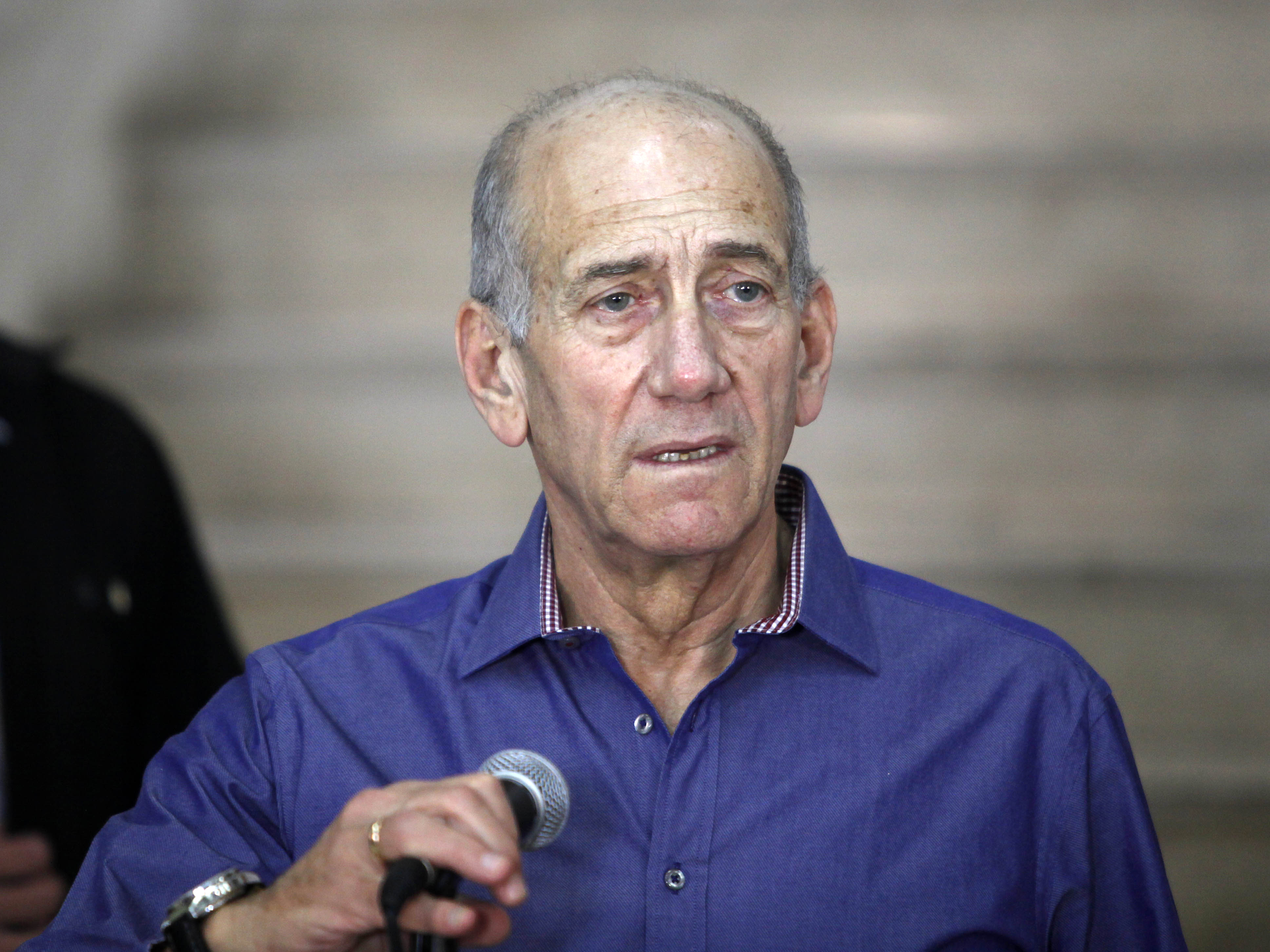 Former Israeli Prime Minister Ehud Olmert diverges from the official Israeli position on the U.N. General Assembly vote last week.