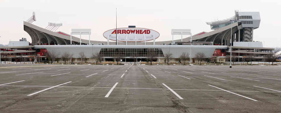 Arrowhead Stadium in Kansas City, Mo.