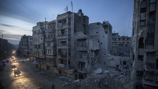 Night falls on a Syrian rebel-controlled area on Thursday, the same day an Internet blackout struck the country. The cause is still unclear, but many claim the Syrian government was responsible. (AP)