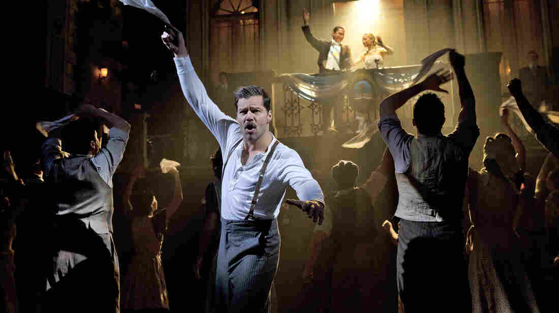Ricky Martin performs as Ché in the current Broadway run of Evita. Martin will leave the show in January 2013.