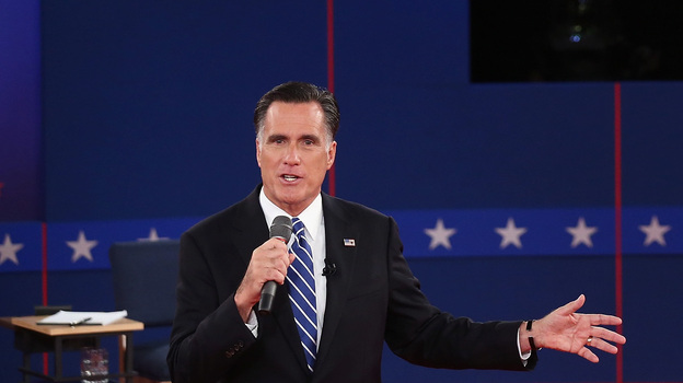 In the presidential debate on Oct. 16, Mitt Romney presented a hypothetical way to cap deductions and raise revenue. (Getty Images)