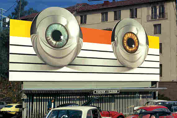 """Landau cites this billboard for the movie Tommy (based on the record by The Who) as one of his favorites. It created a stir at the time, he says, because there was no text — just """"these science fiction eyes staring at you,"""" says Landau. """"There was no limit to the money or creativity at that point."""""""