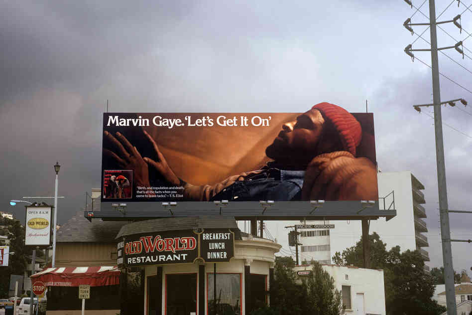 Marvin Gaye's Let's Get It On, 1973 (Tamla/Motown Records), art direction by Mathieu Bitton, photo by Jim Britt.