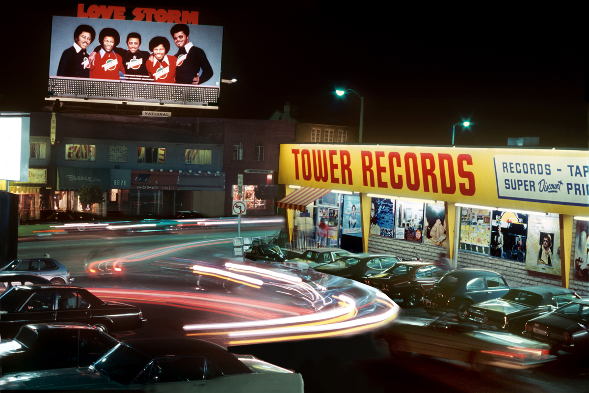 Tower Records on the Sunset Strip, circa 1980.