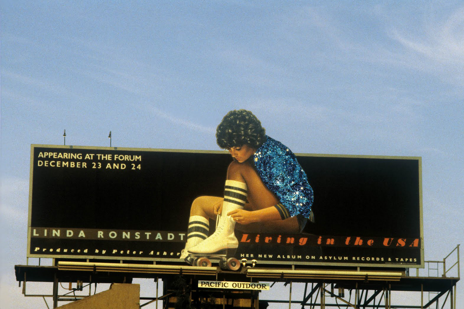 Linda Ronstadt's Living in the USA, 1978 (Asylum Records), art direction by Kosh, photo by Jim Shea.