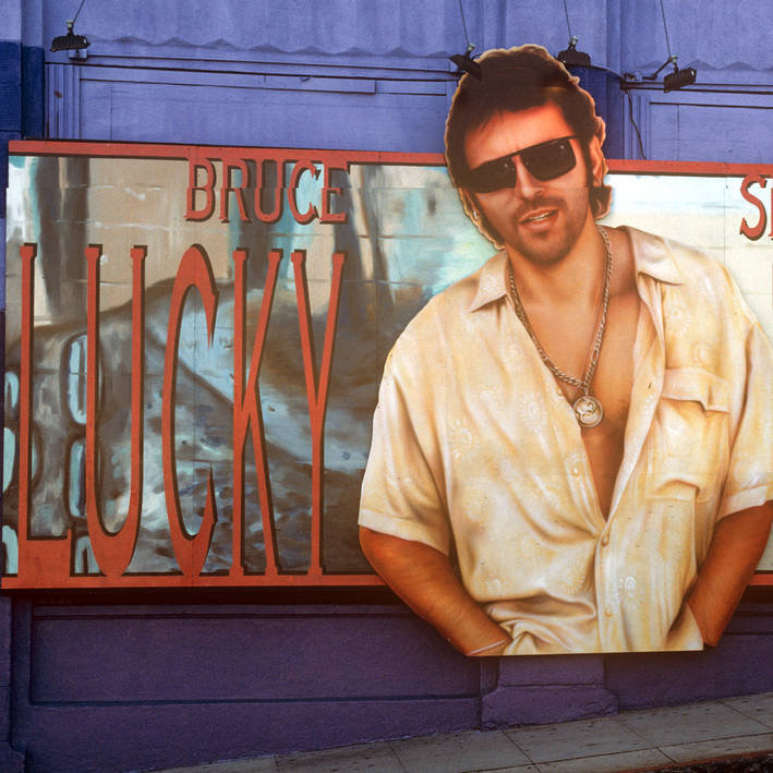 Bruce Springsteen's album Lucky Town, 1992 (Columbia Records), art direction by Sandra Choron.