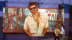 Bruce Springsteen billboard for the record Lucky Town on the side of the Whiskey A Go Go on the Sunset Strip 1992