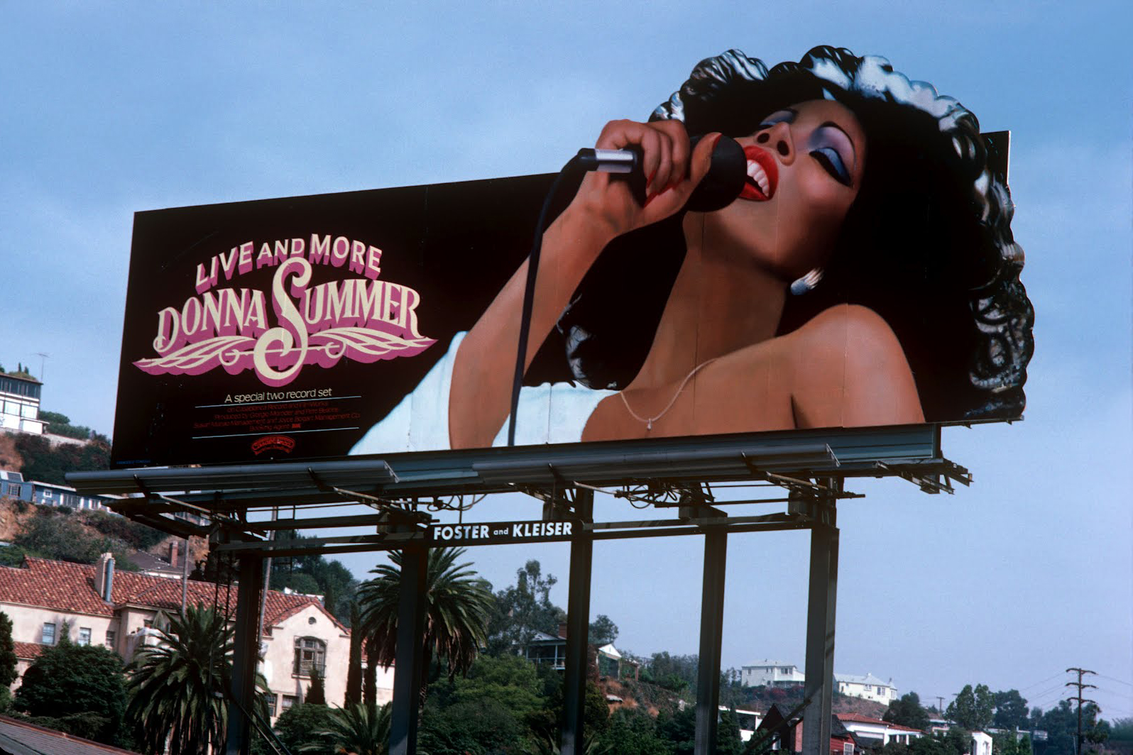 Donna Summer's Live and More, 1978 (Casablanca Records), art direction by Gribbit!, Henry Vizcarra and Stephen Lume, photo by Francesco Scavullo.