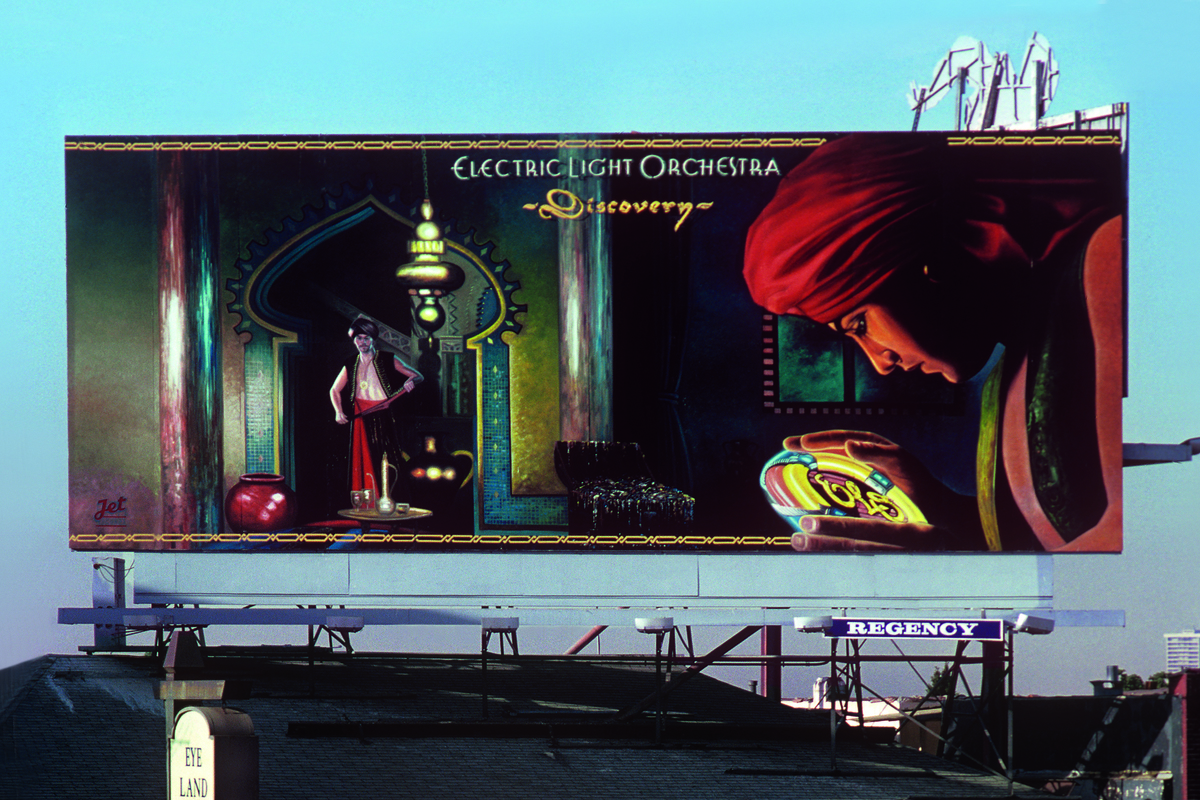 Electric Light Orchestra's Discovery, 1979 (Jet Records), art direction by Norman Moore and Paul Gross.