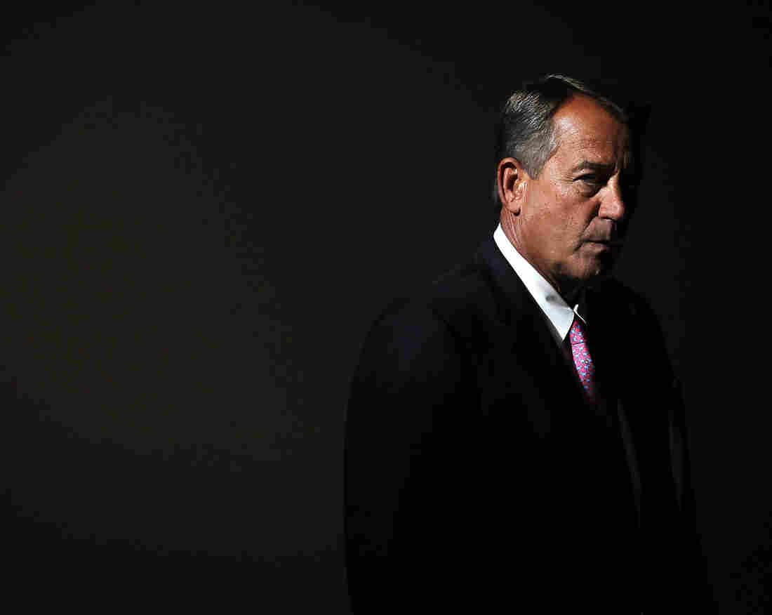 Speaker of the House Rep. John Boehner arrives for a news conference in November.