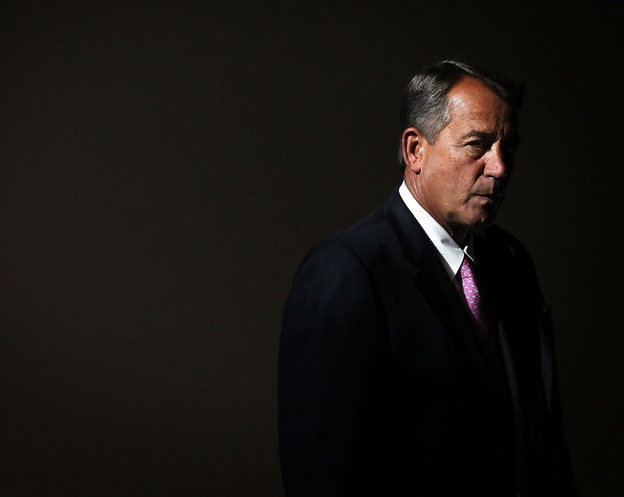 Speaker of the House Rep. John Boehner arrives for a news conference in November.