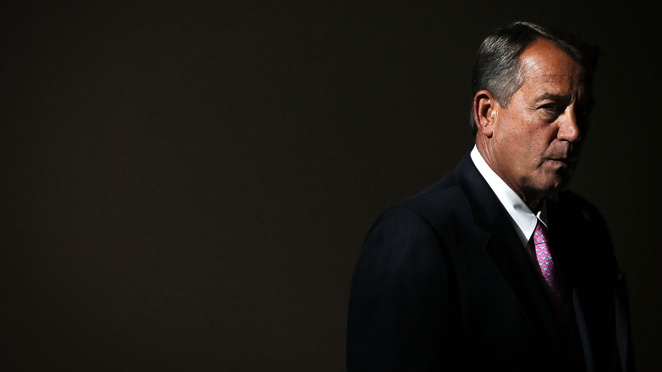 Speaker of the House Rep. John Boehner arrives for a news conference in November. (Getty Images)