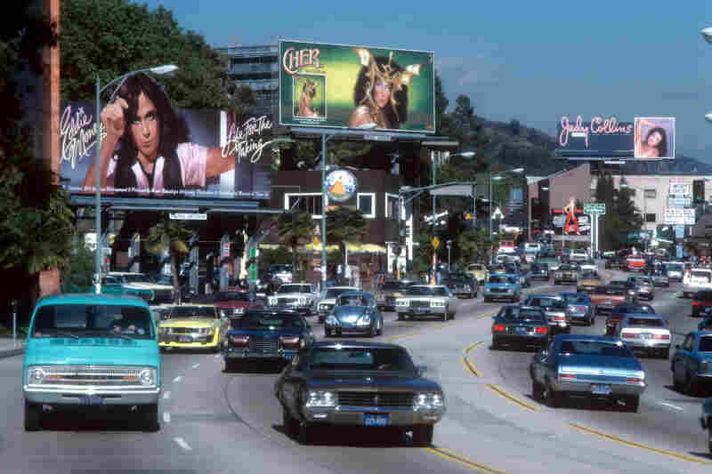 Cars on L.A's Sunset Strip