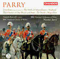 Cover art for works for chorus and orchestra by Hubert Parry.