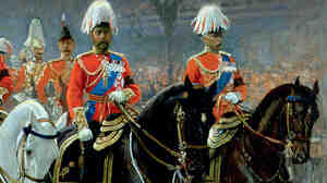 A 1910 portrait of King George V in procession. A new album of choral works by Hubert Parry features music he wrote for the king's coronation one year later.